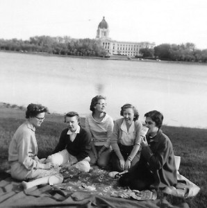 Picnic in the park - Wascana with the Saskatchewan Legislature in the background