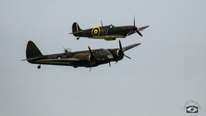 Bristol Blenheim and Supermarien Spitfire