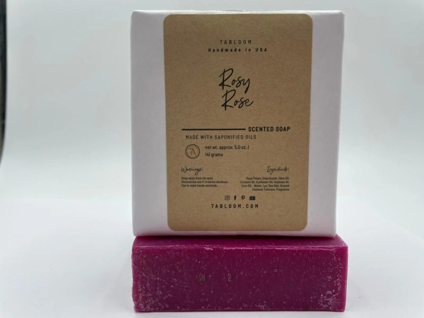 7 Abloom Rosy Rose Soap
