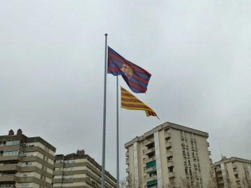 バルサとカタルーニャの旗