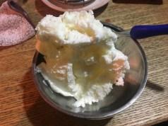 デザートのアイス