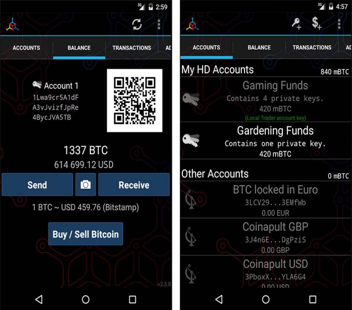 My Celium Bitcoin Wallet app