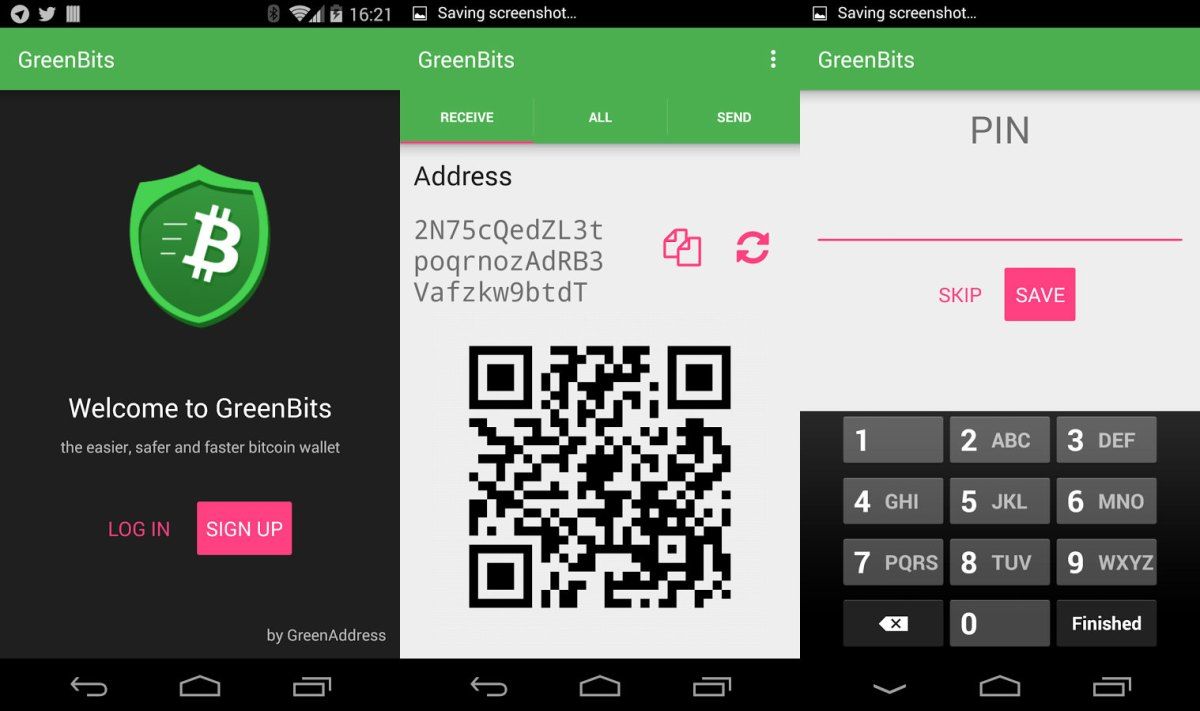 greenbit Bitoin Wallet App