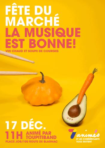 Fête du marché des 7 deniers toulouse association 7 animés soupe de courges toupitiband