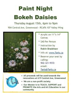 poster for daisy paint night