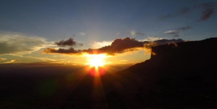 Monte Roraima - Pôr do sol no Kukenan