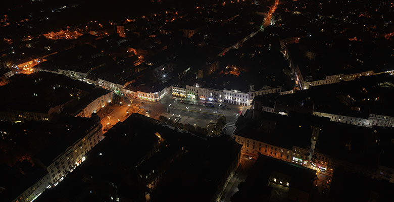 Chernivtsi at night