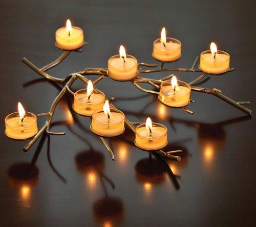 Aluminum Tree Branch Tea Light Holder Christmas
