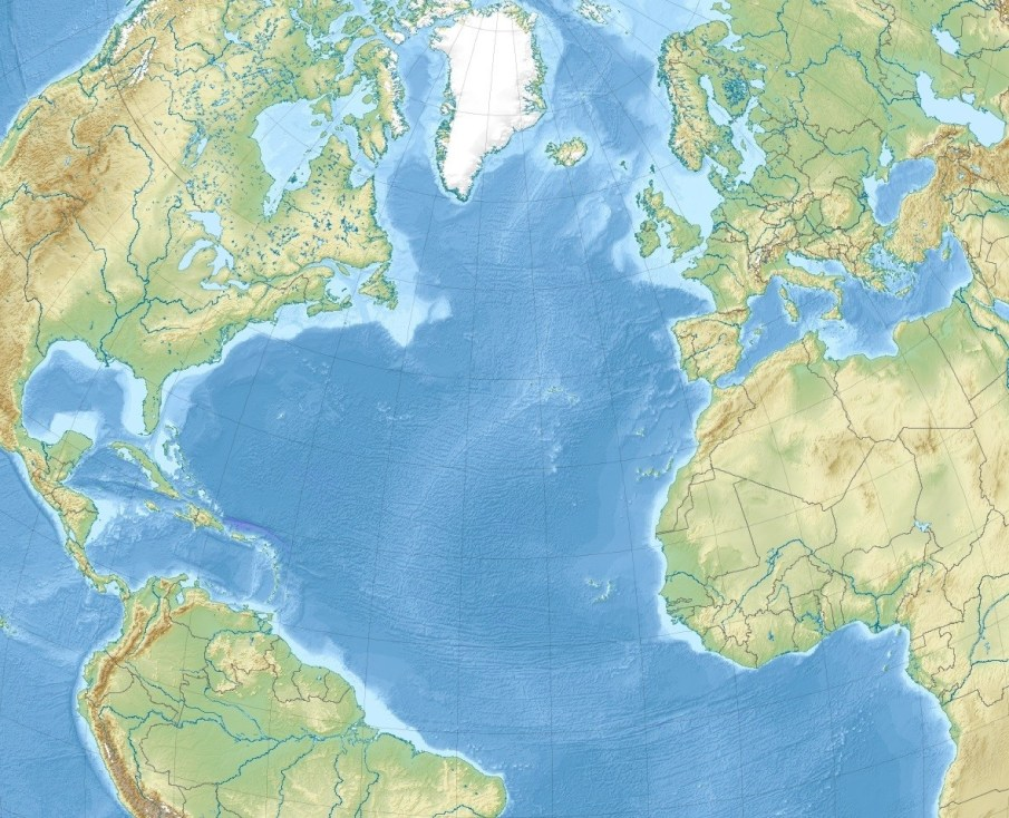 Atlantic Ocean Maps | Climate, Location & Facts