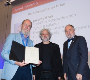 Laureate Jeremy Gray, presenter Prof. Moritz Epple