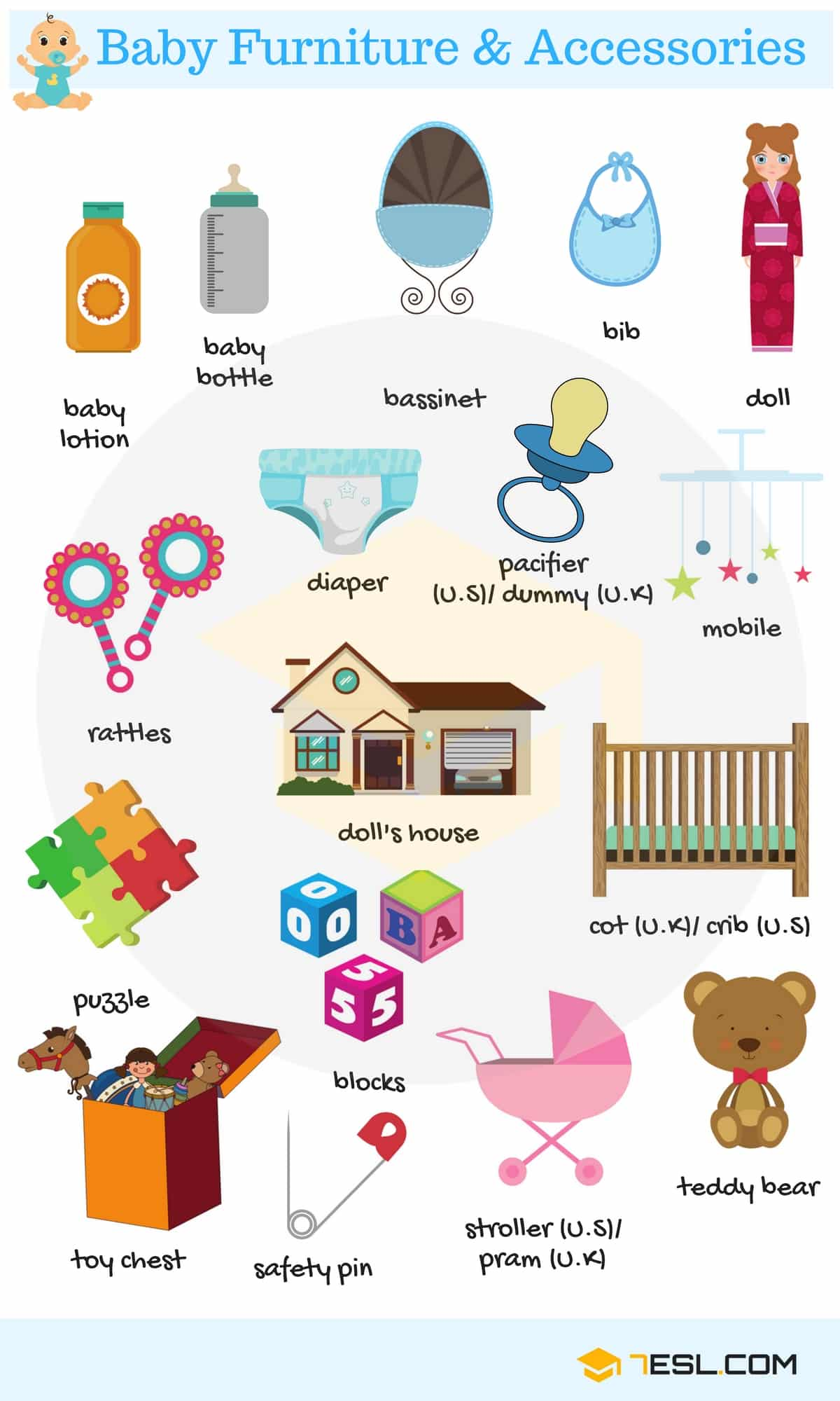 Baby Room Baby Furniture And Accessories Vocabulary