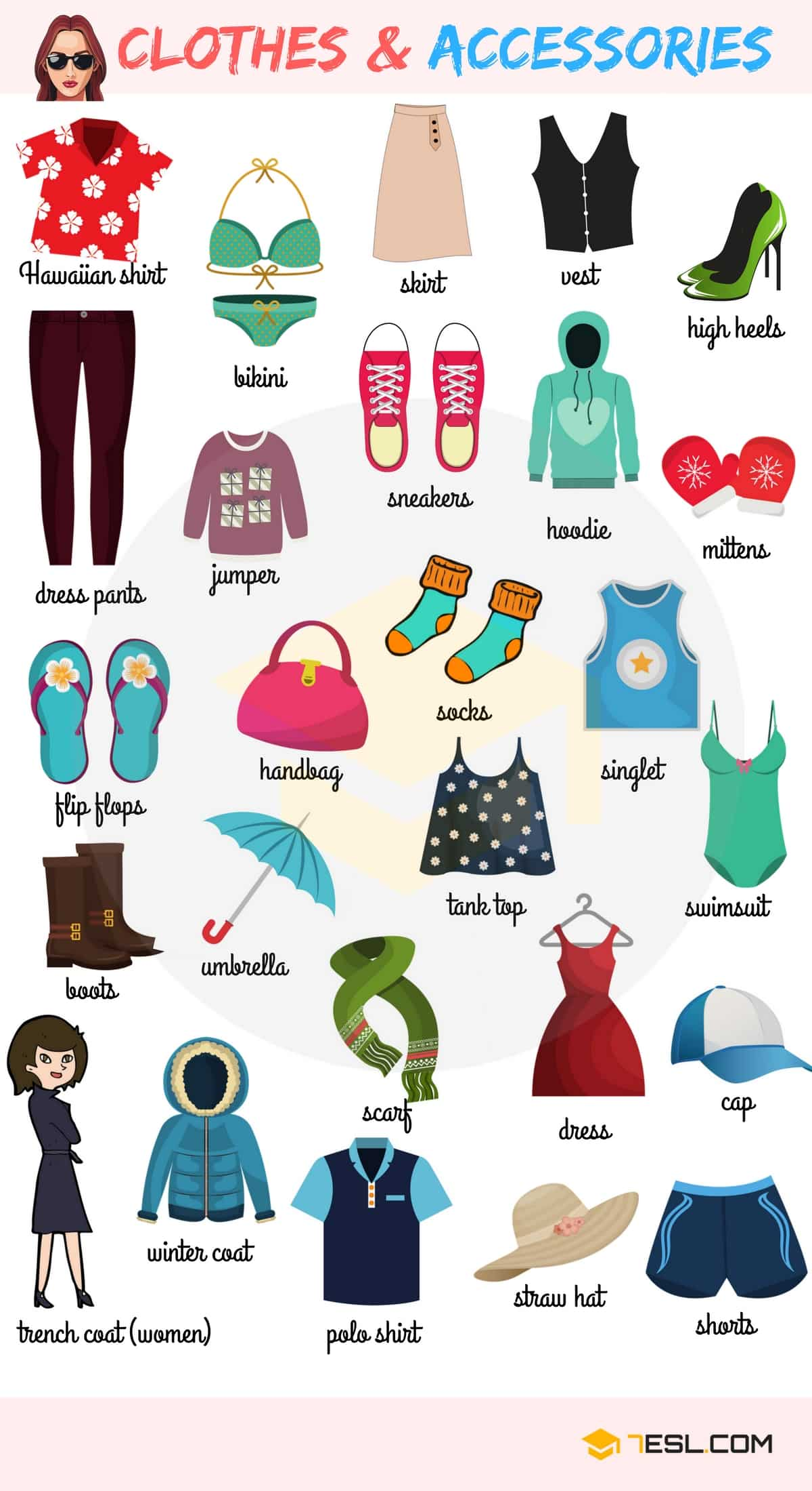 Clothes And Accessories Names In English With Pictures