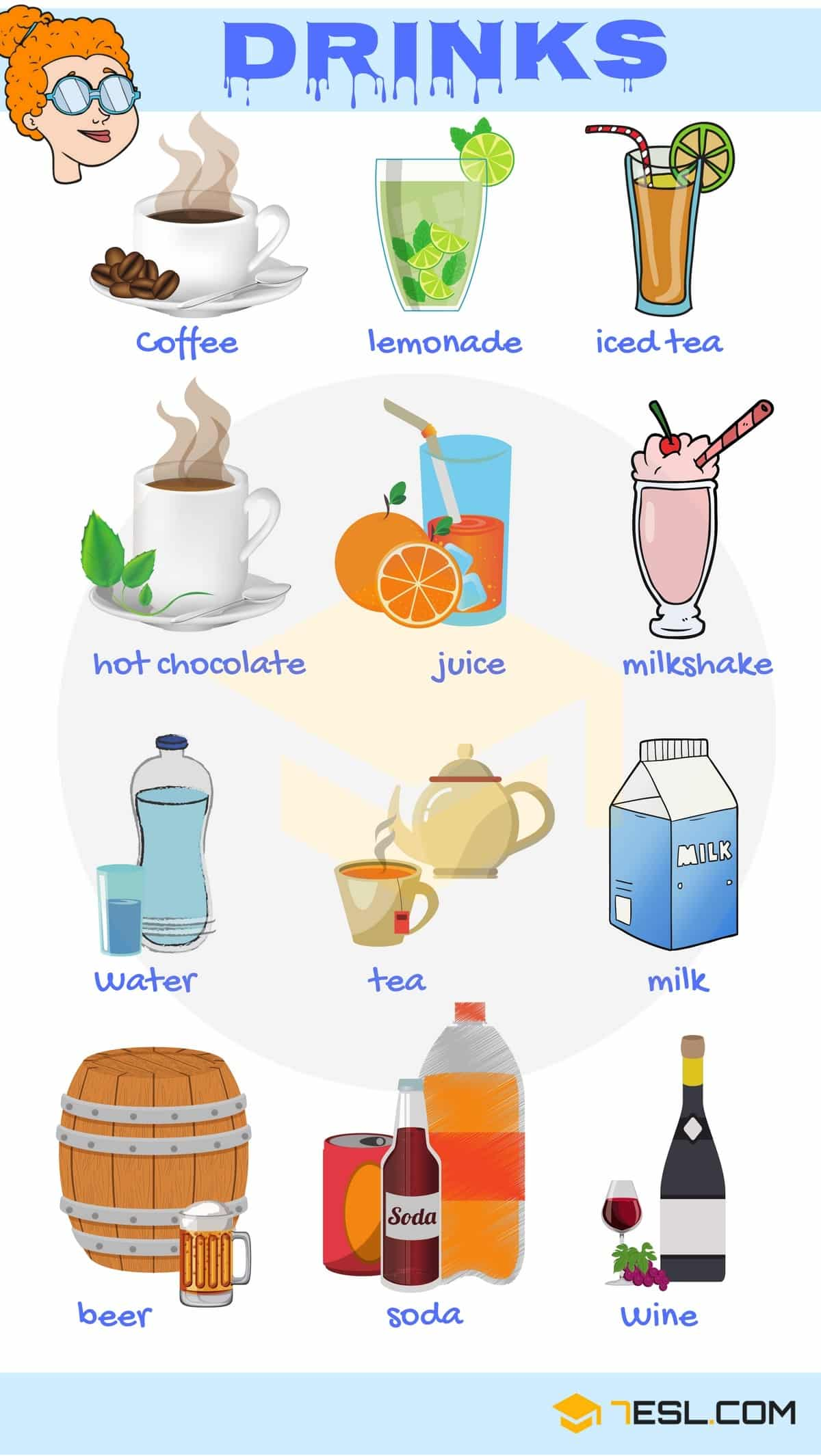 Drink Names Useful List Of Drinks In English With