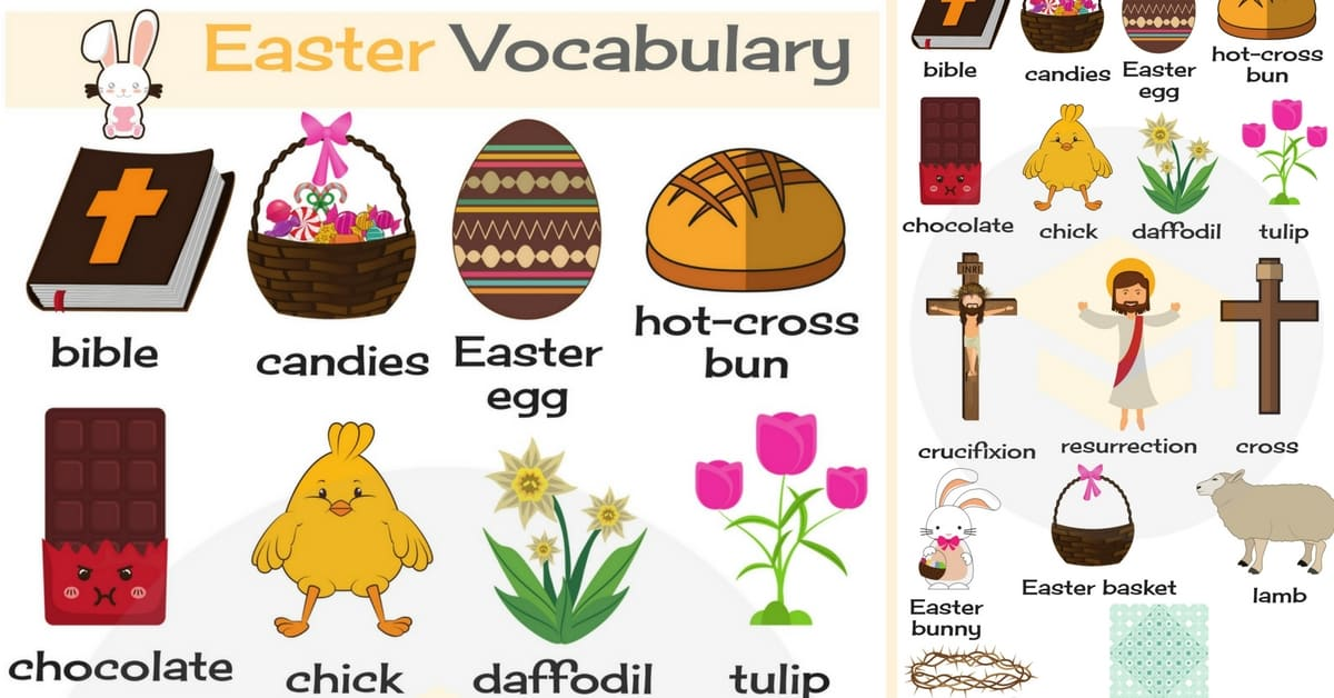 Easter Vocabulary In English Talking About Easter 7 E S L