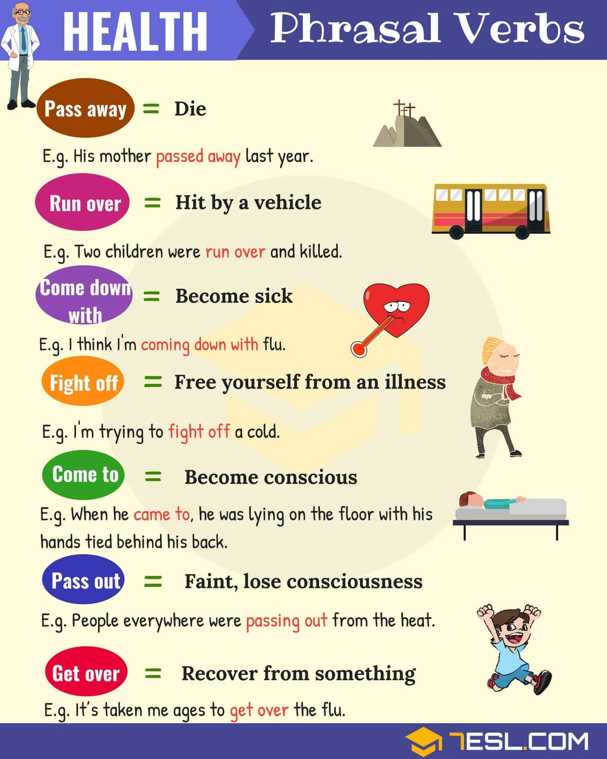 Health Phrasal Verbs With Meaning And Examples