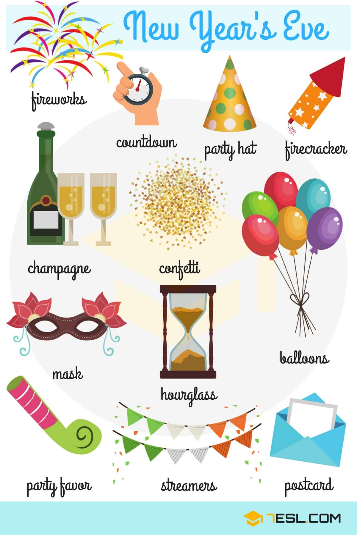 Happy New Year New Year Vocabulary Words