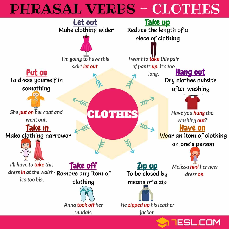 20 Useful Clothing Phrasal Verbs In English