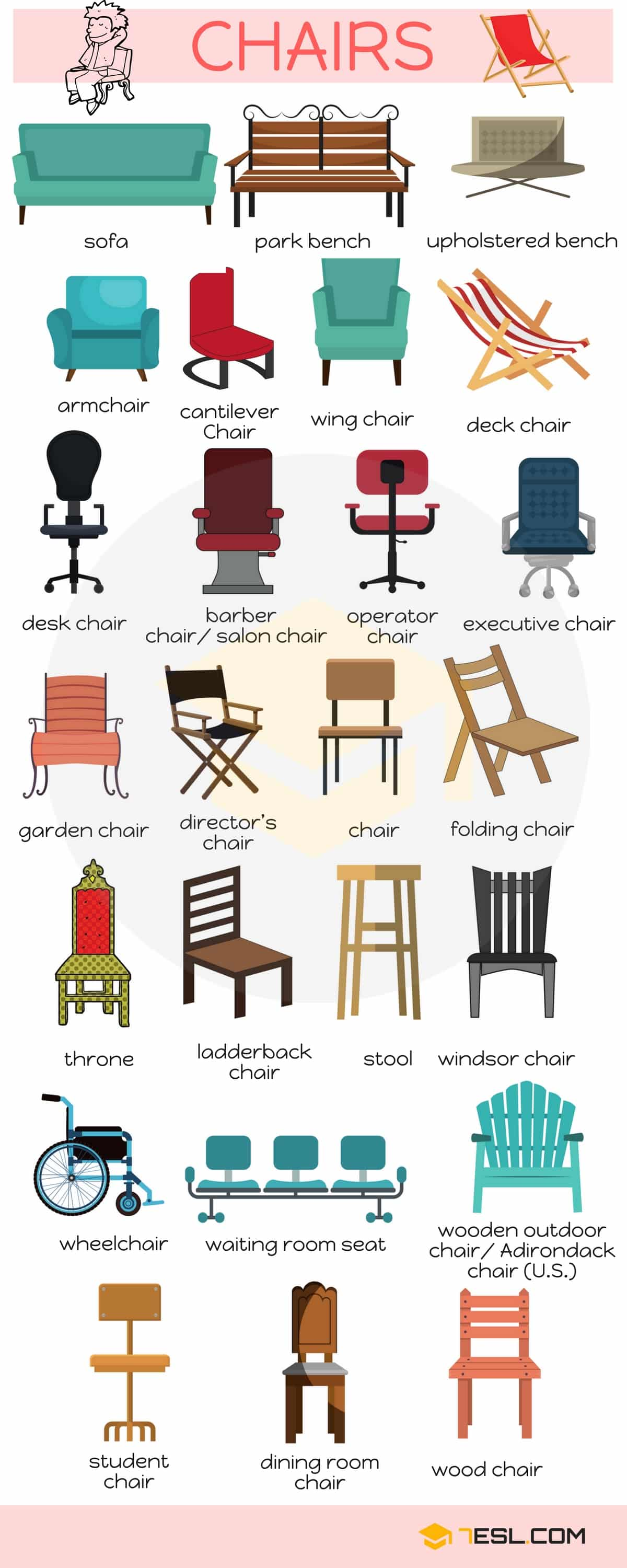 Bedroom Furniture Vocabulary List