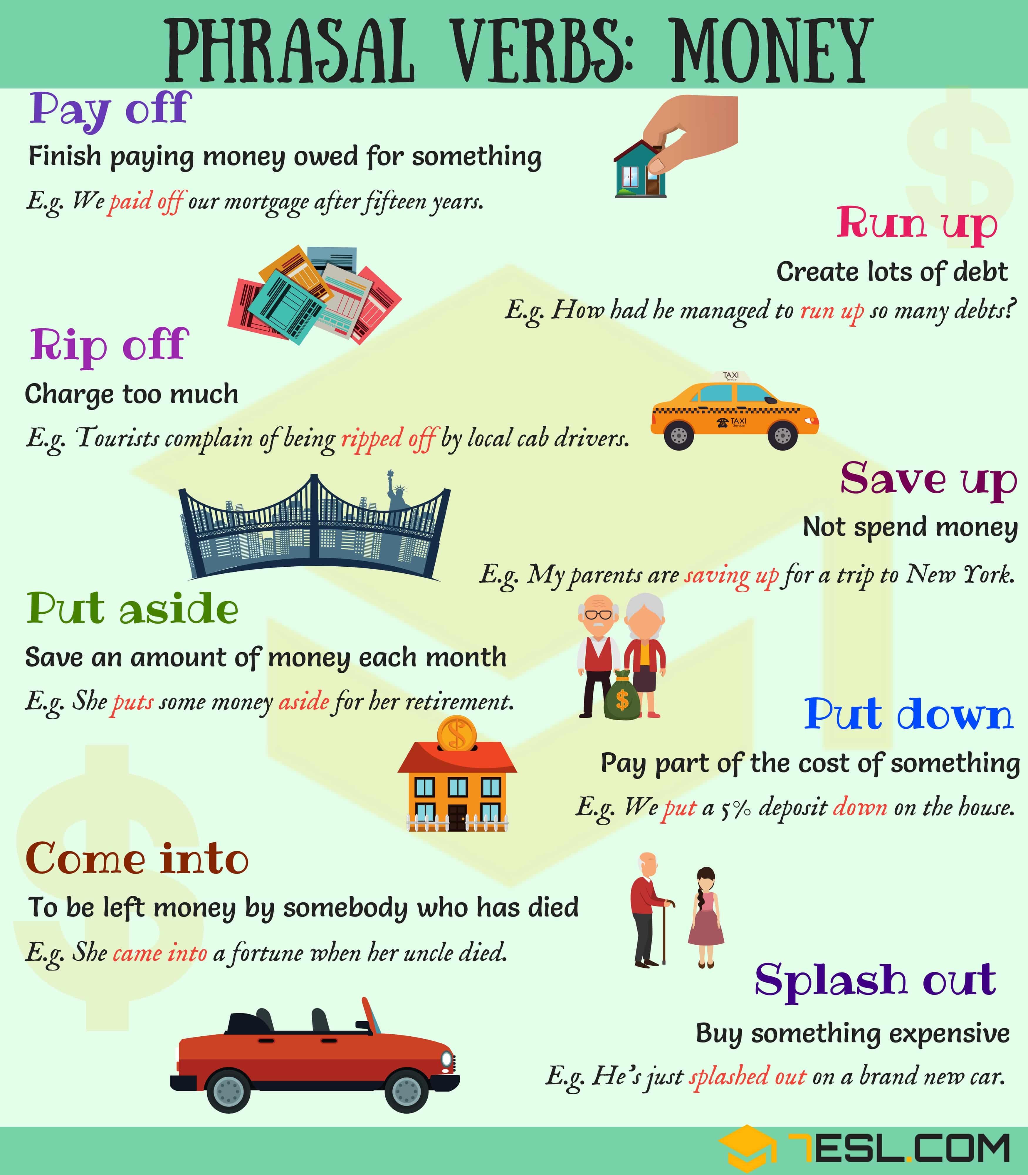 Money Vocabulary 11 Common Phrasal Verbs About Money