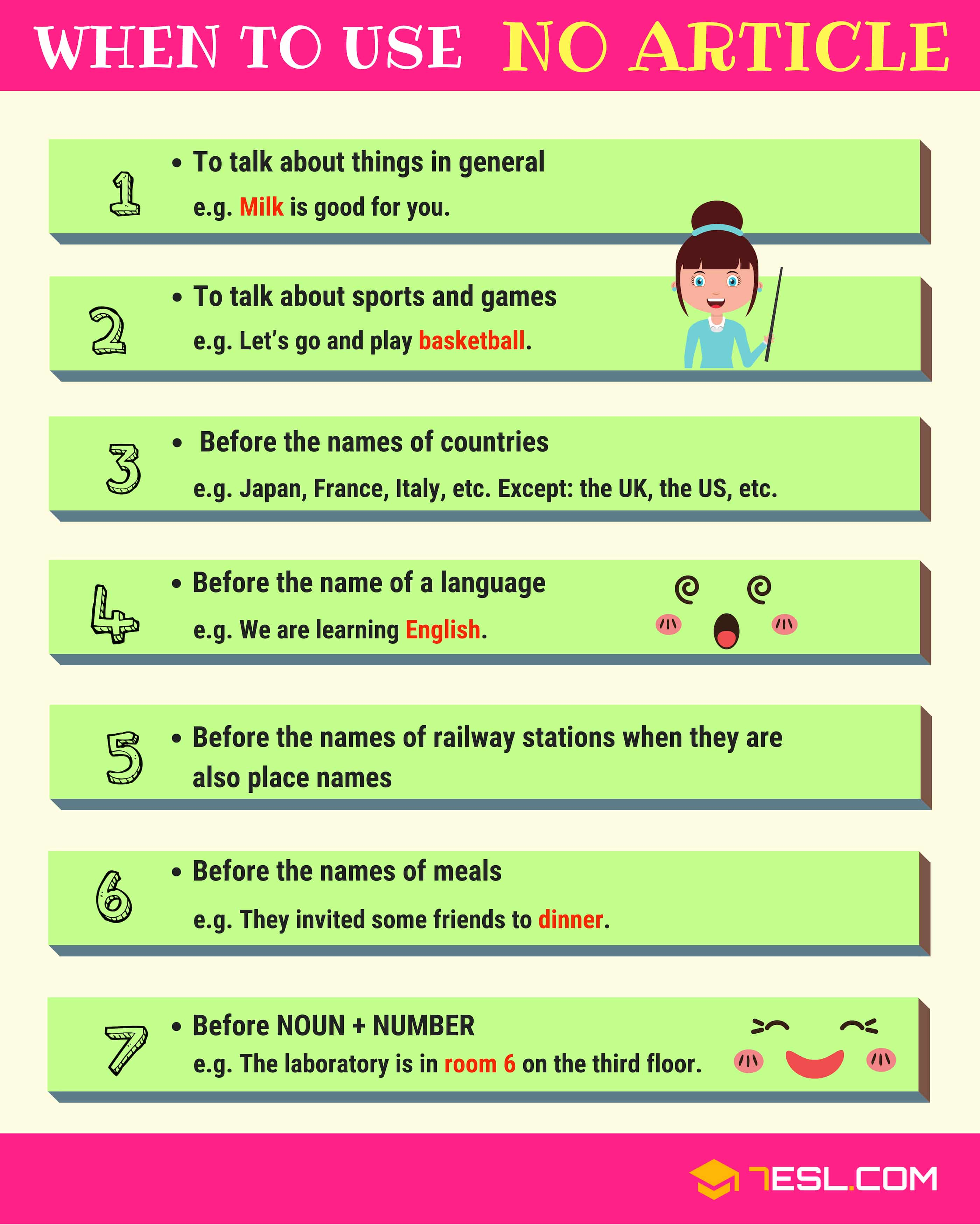 When To Use No Article In English With 7 Useful Rules