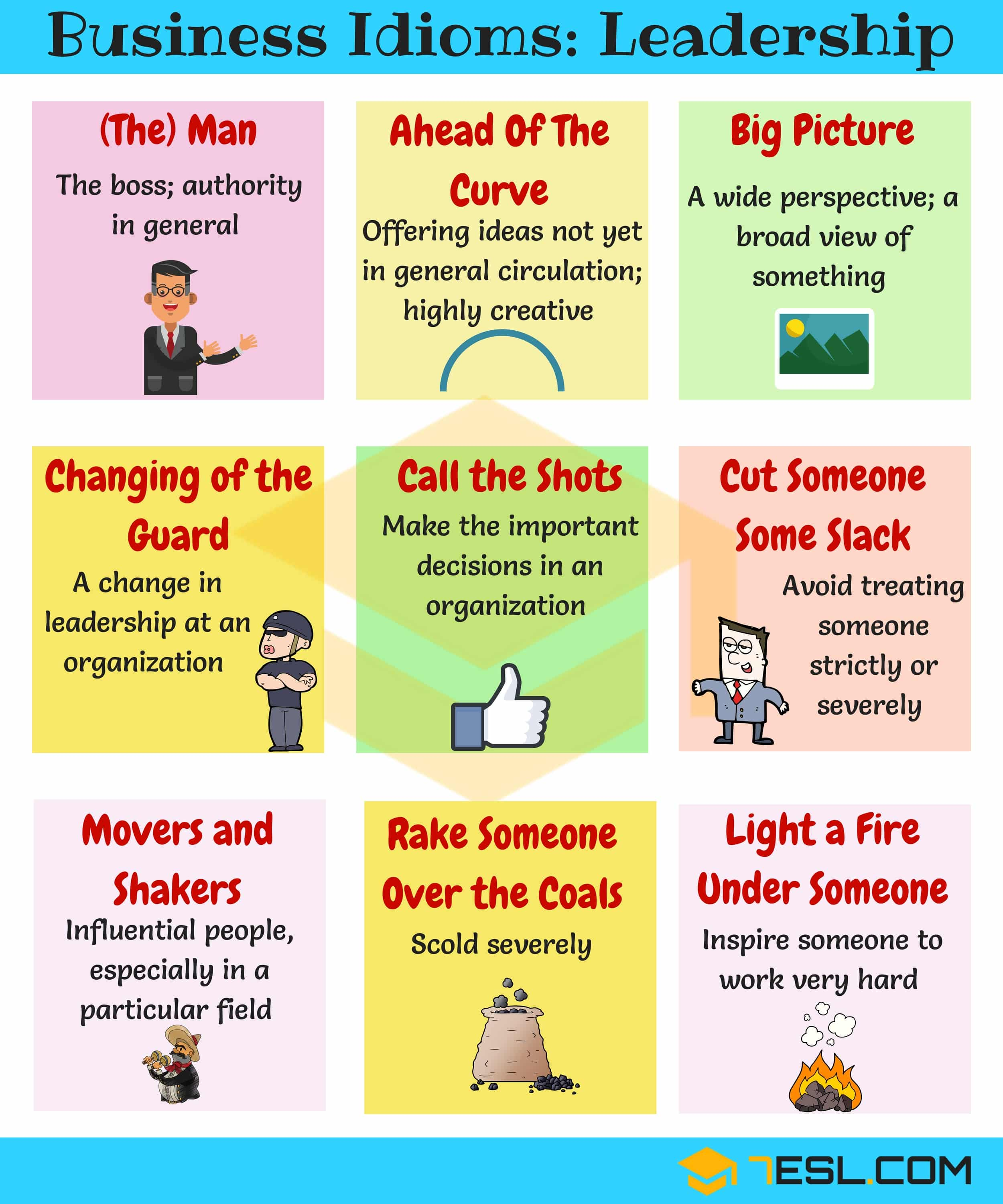 15 Common Phrases Amp Idioms About Leadership In English