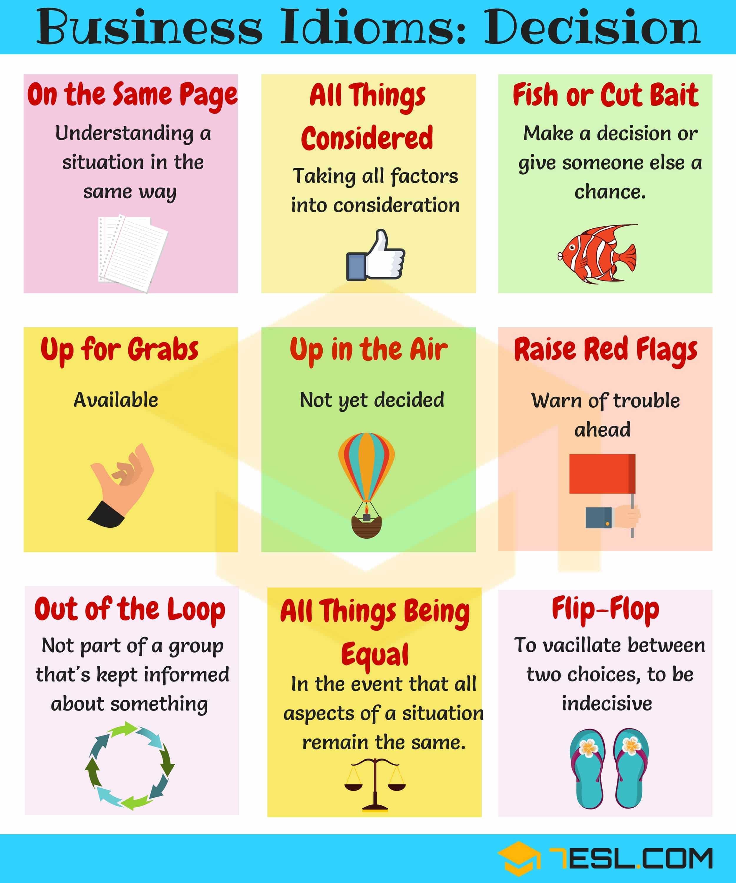 15 Useful Expressions Amp Idioms For Making Decisions