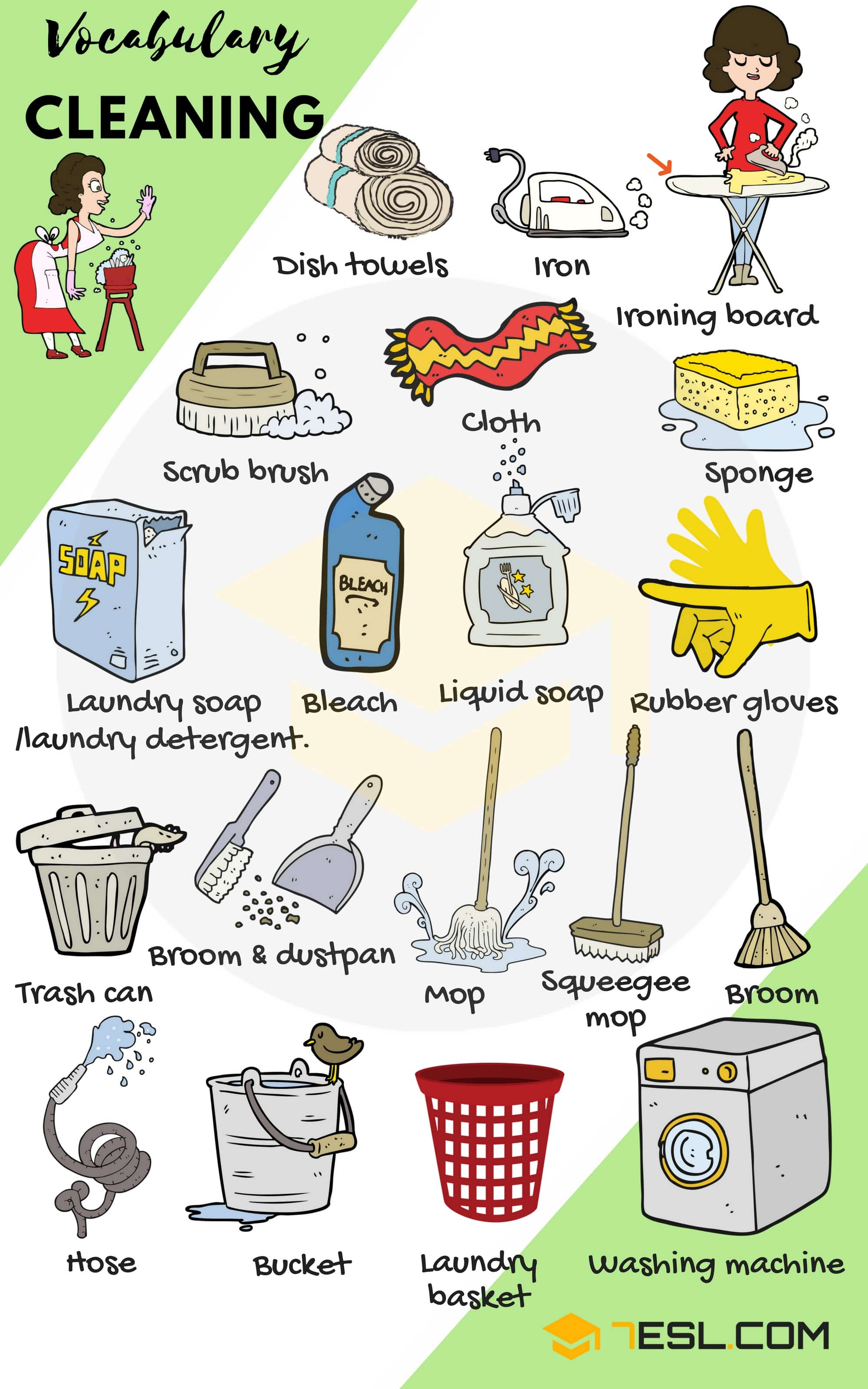 Cleaning Supplies List Of House Cleaning Amp Laundry