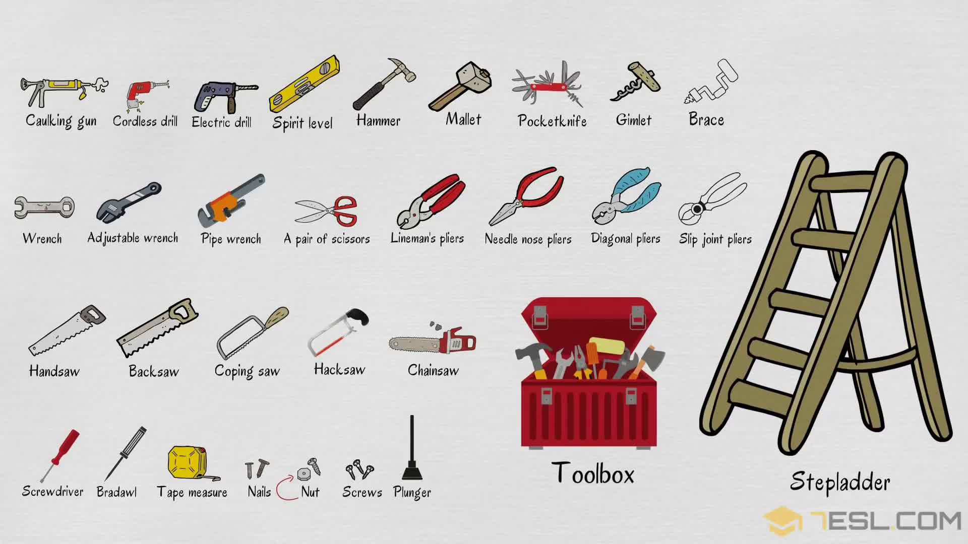 Tools Names Useful List Of Tools In English With Pictures