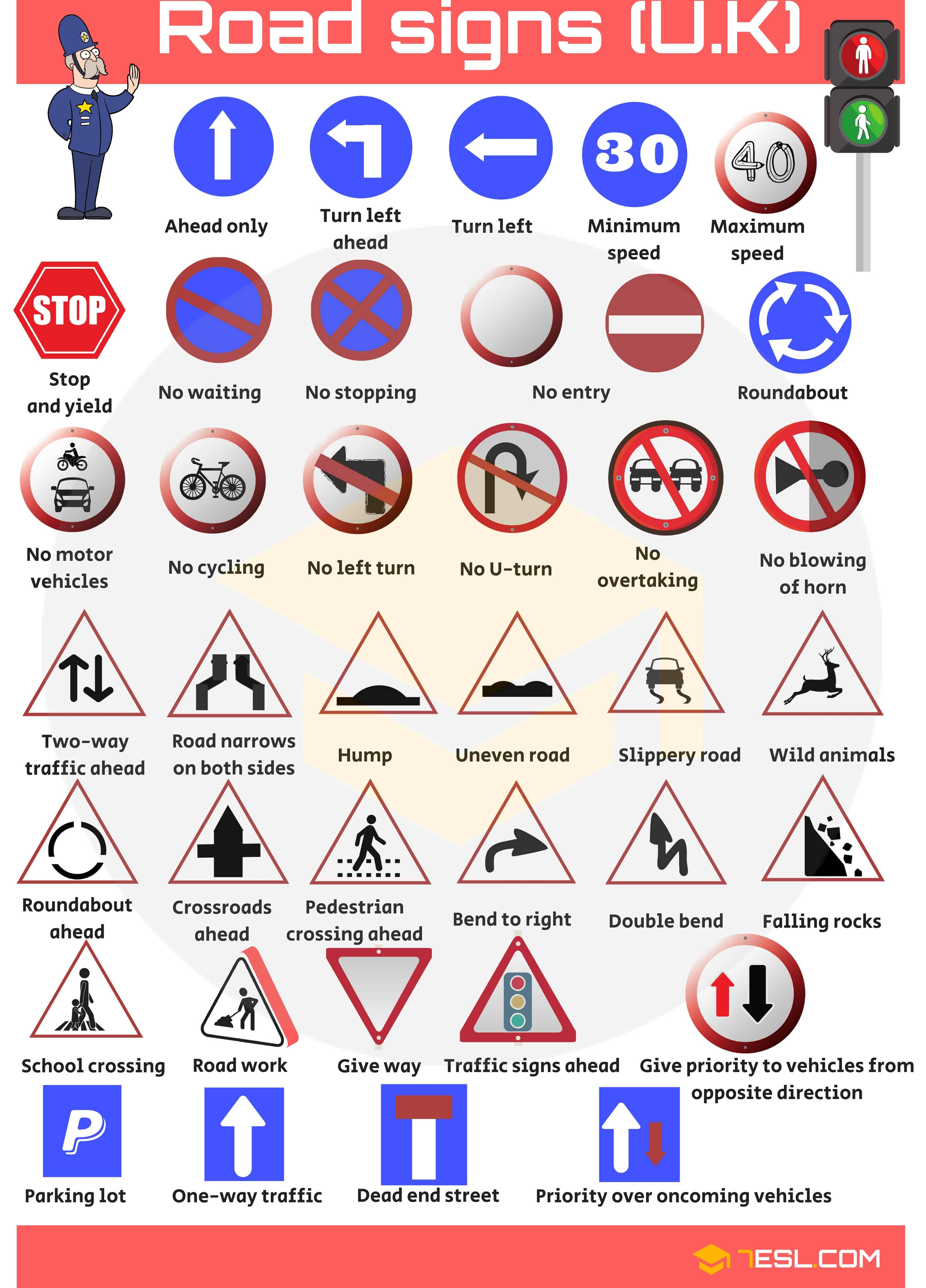 Road Signs Traffic Signs Street Signs With Pictures