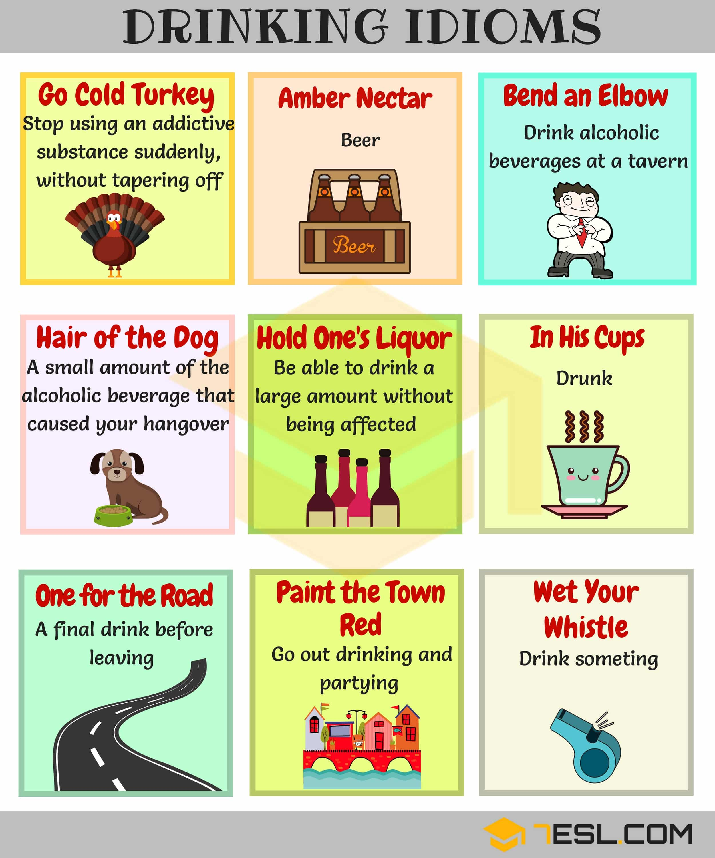 15 Useful Drinking Idioms With Meaning And Examples