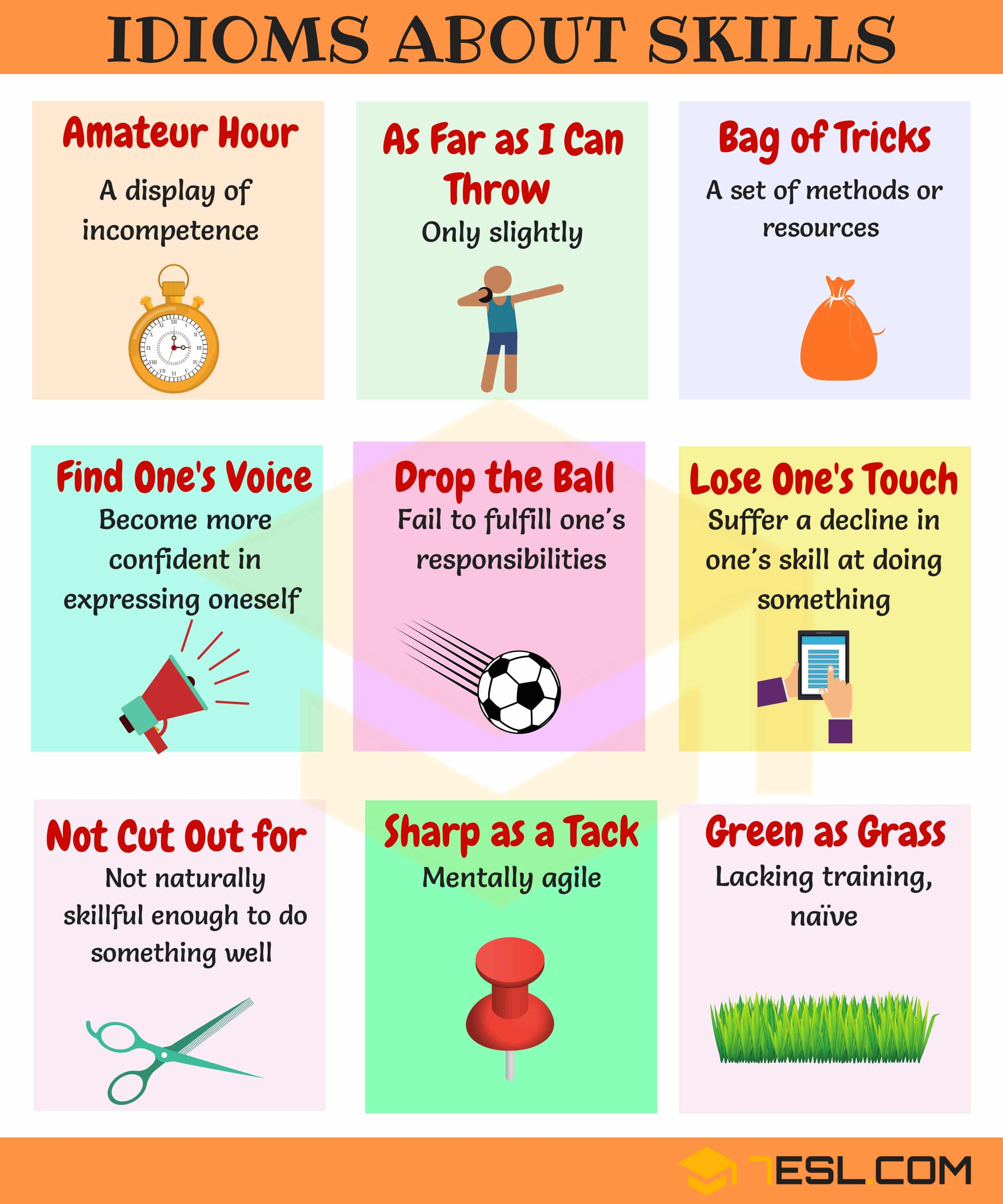 Skill Idioms 10 Useful Phrases Amp Idioms About Skills