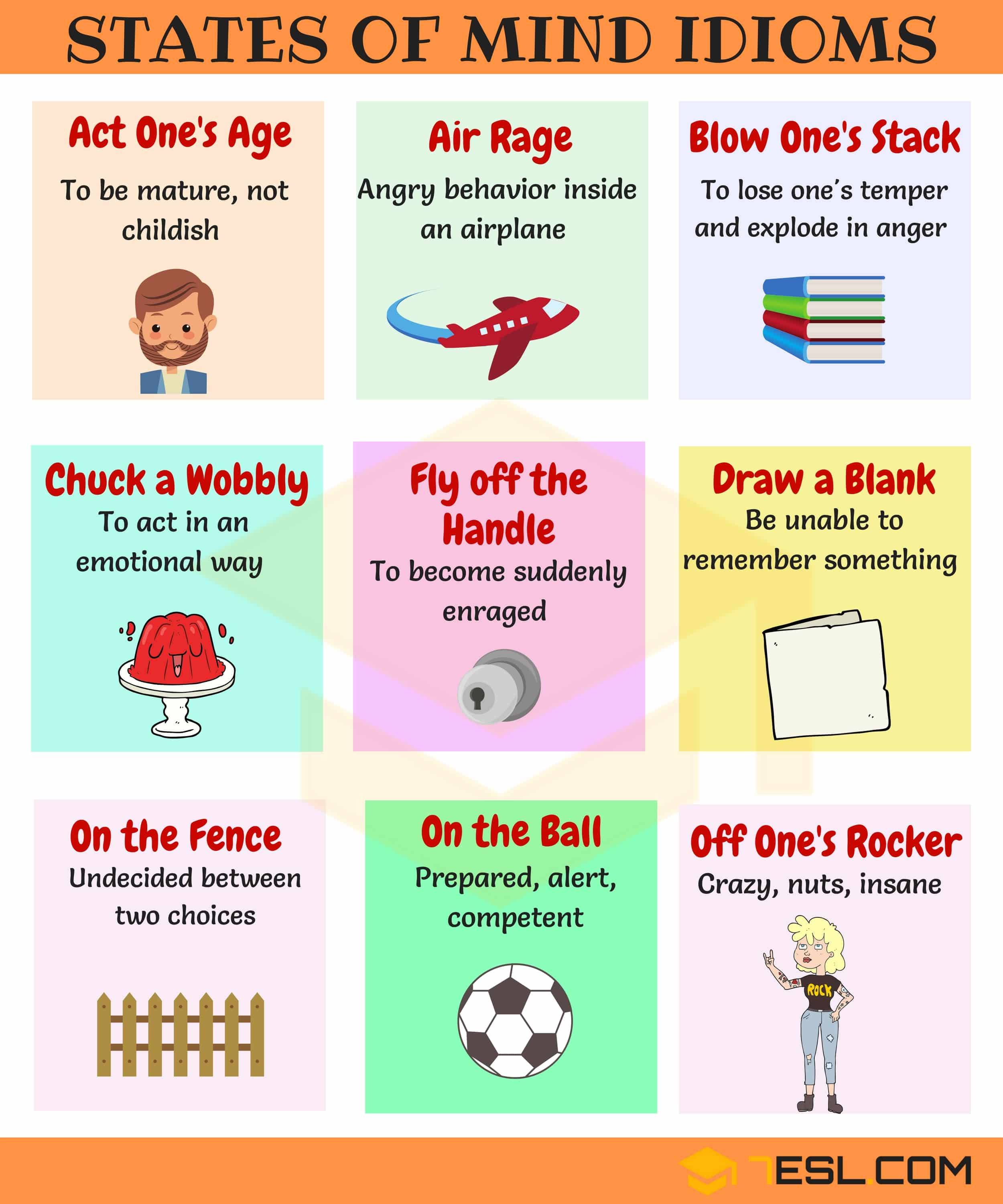 30 Useful Idioms To Express Feelings And Emotions