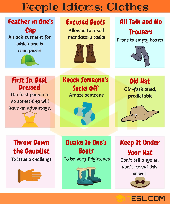 Clothes Idioms 18 Useful Clothes Amp Fashion Idioms