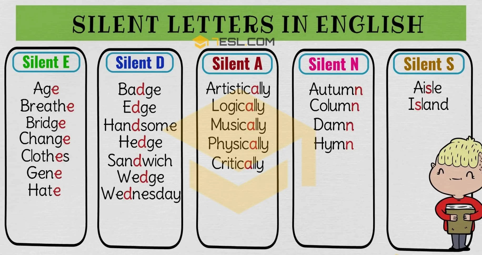 Worksheet On Words With Silent Letters