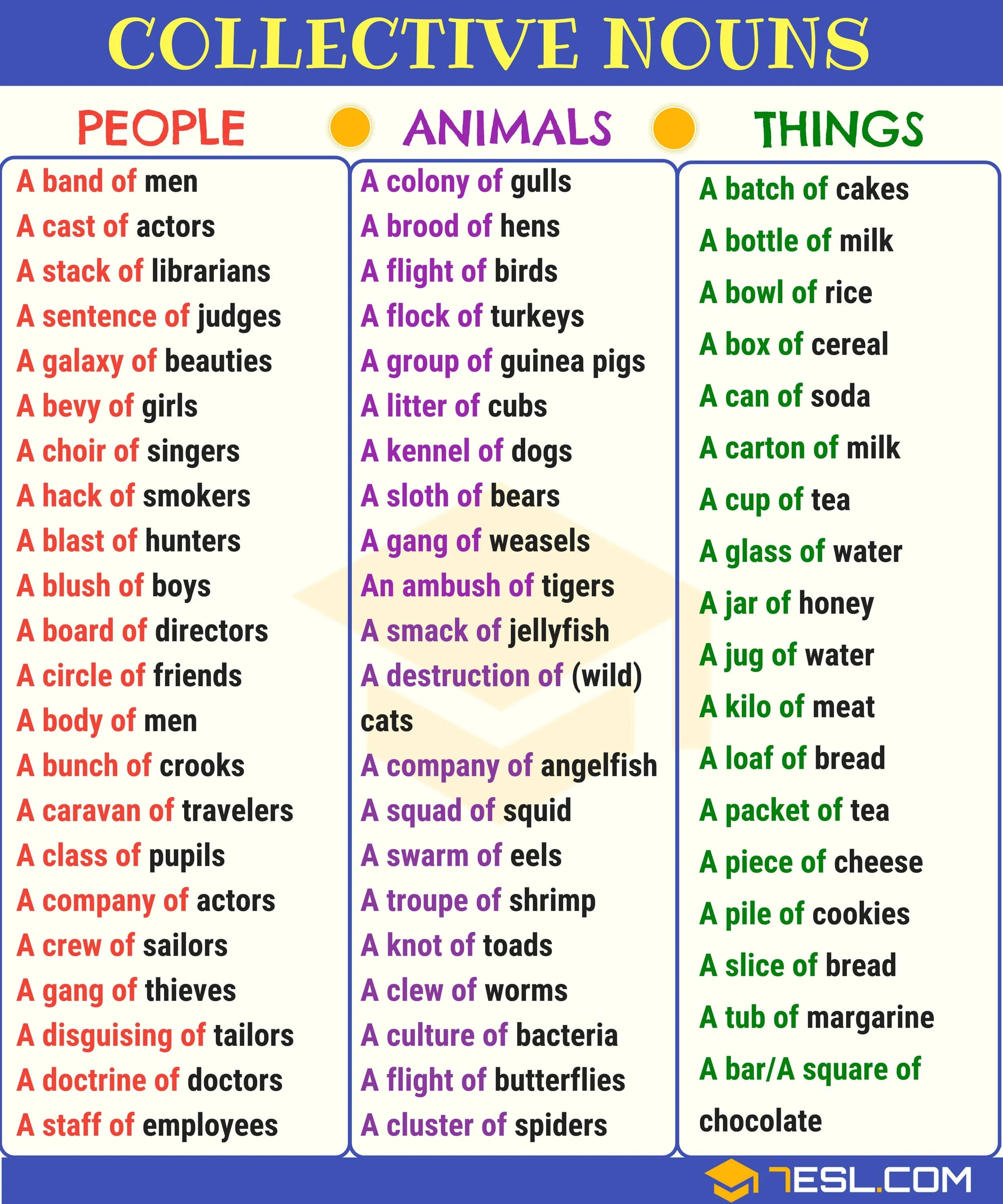 Collective Noun Definition List Amp Examples Of Collective