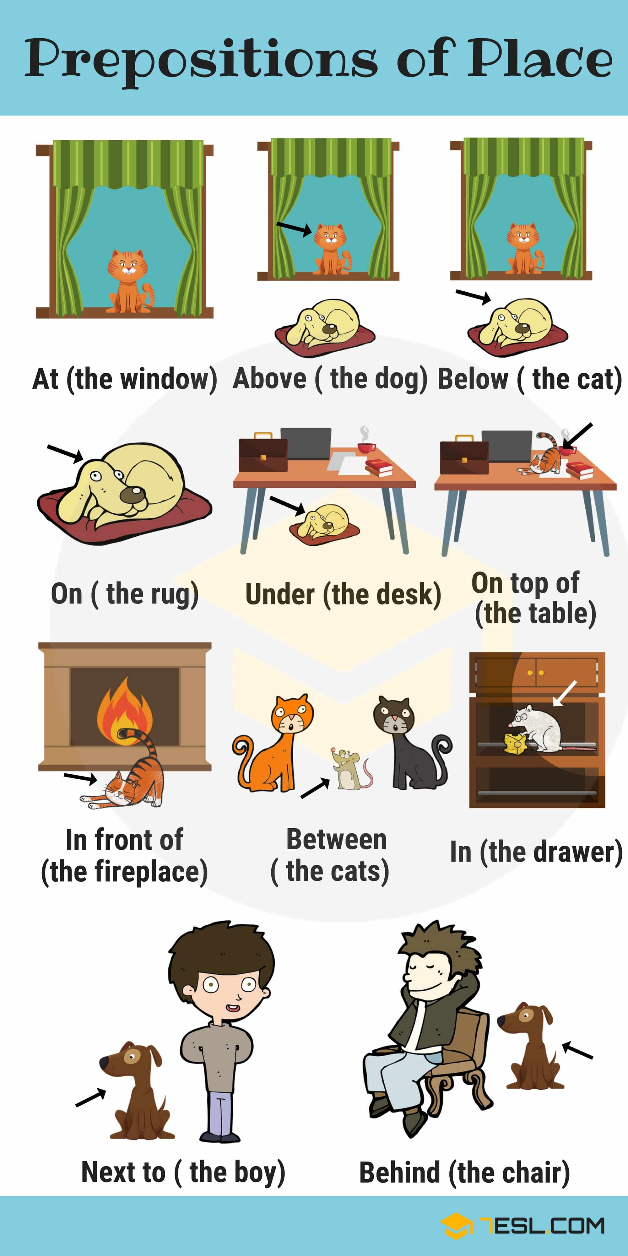Learn English Prepositions With Pictures And Examples