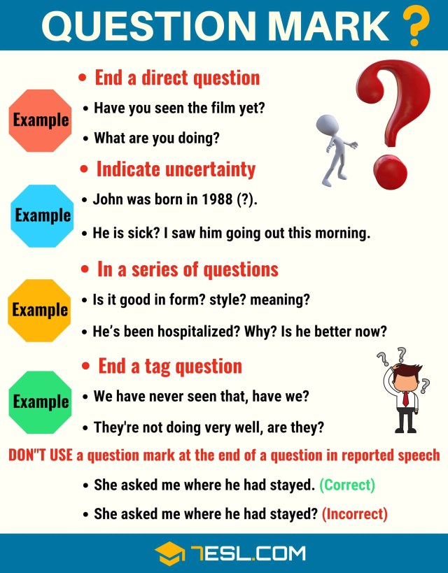 The Question Mark (?) When and How to Use Question Marks Correctly