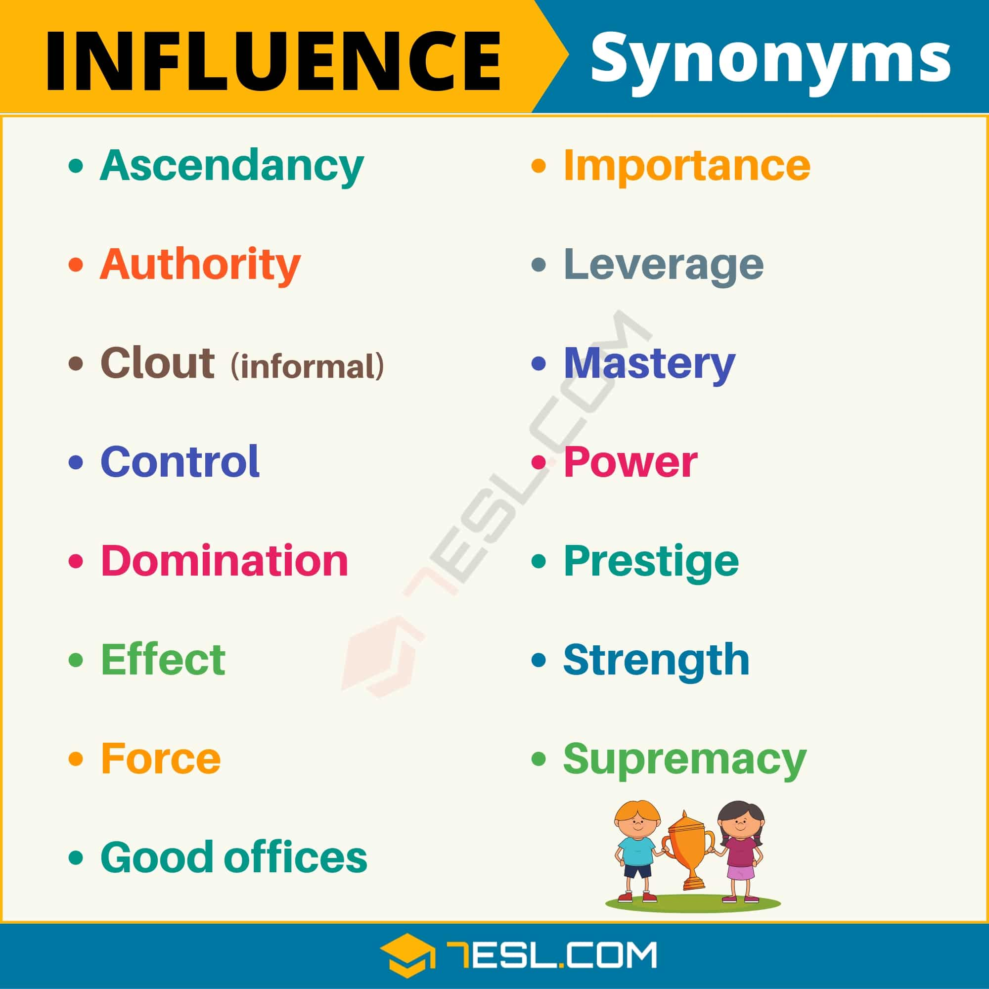 Influence Synonym 100 Synonyms For Influence With Useful