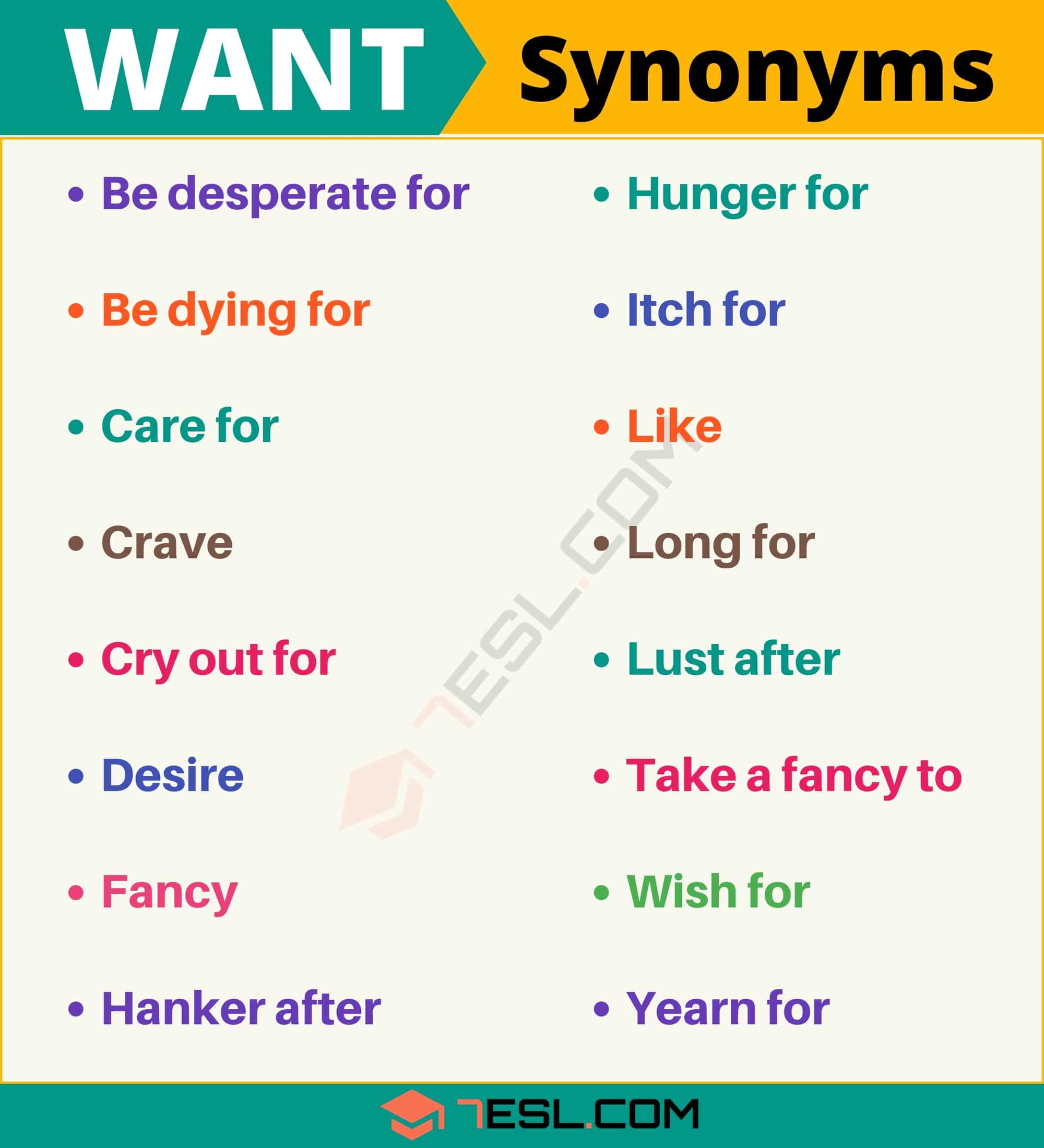 Want Synonym List Of 105 Synonyms For Want With Useful