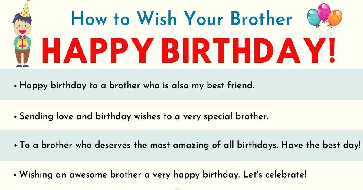 Happy Birthday Brother 35 Best And Funniest Birthday Wishes For Brother 7esl