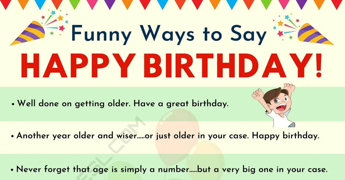 Funny Birthday Wishes 30 Funny Happy Birthday Messages For Friends And Loved Ones 7esl