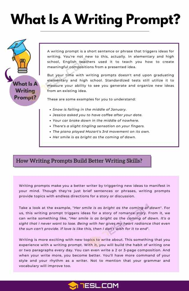 Does A Writing Prompt Make You A Better Writer? • 17ESL