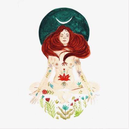 divine feminine illustration