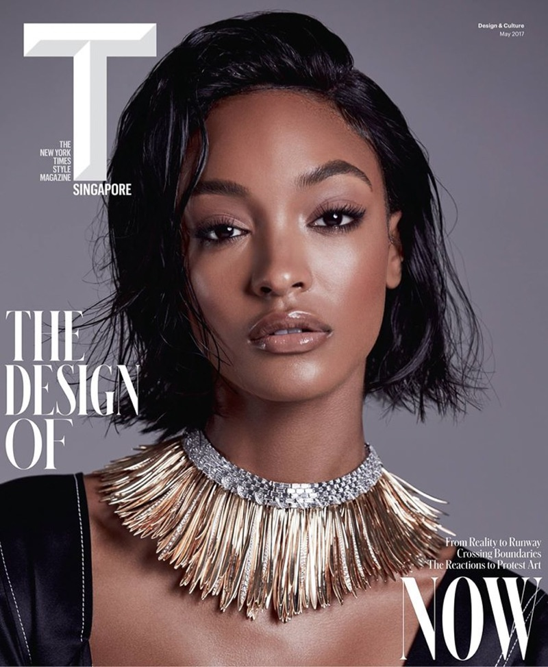 JOURDAN DUNN RIPS PAGES INSIDE T MAGAZINE SINGAPORE