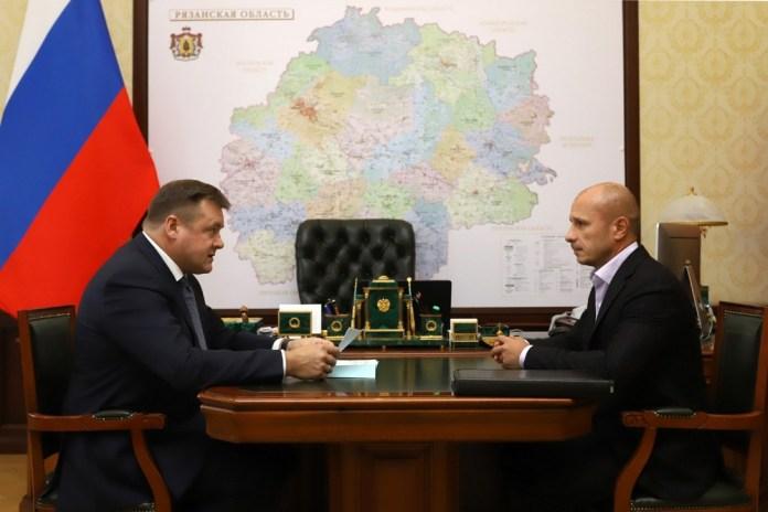 Губернатор объявил благодарность президенту Рязанского футбольного Союза Дмитрию Малахову