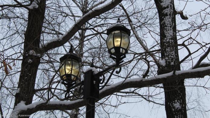 В Рязанском ЦПКиО починили фонарь