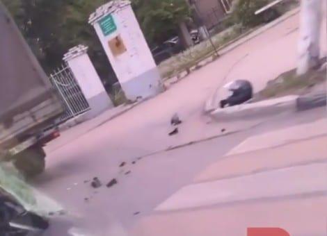 В центре Рязани мотоциклист попал в ДТП
