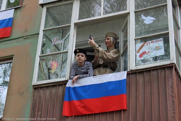 #ПоемДвором: в рязанских дворах исполнили песни Победы