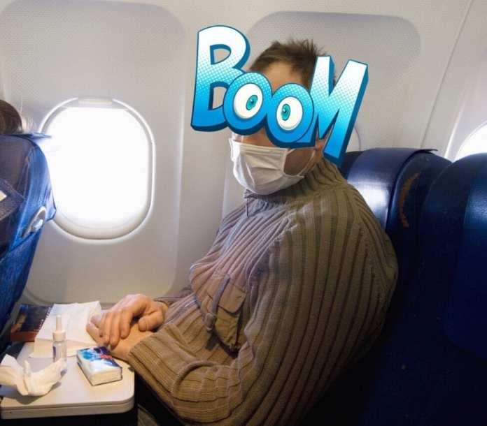 Пассажиры самолета едва не линчевали мужчину за чихание