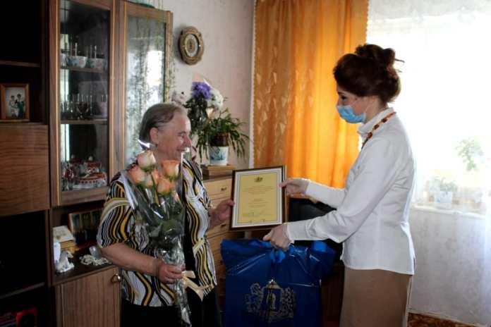 Юлия Рокотянская поздравила с Днем рождения Почетного гражданина Рязани Анну Макарову